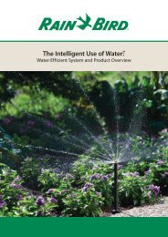 The Intelligent Use of Water - Rain Bird irrigation