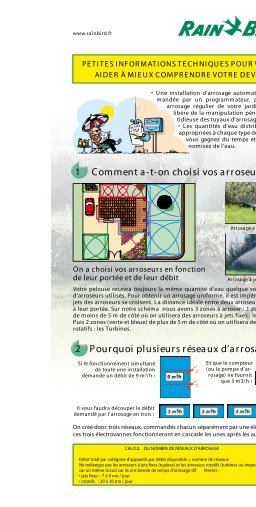 Guide d'installation de votre système - Rain Bird