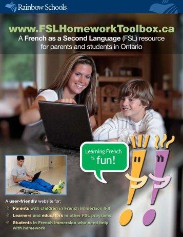 FSL Homework - Rainbow District School Board