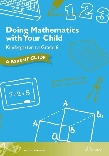 Doing Mathematics with Your Child, Kindergarten to ... - EduGains