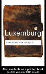 Rosa Luxemburg: The Accumulation of Capital - Libcom