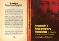 Kropotkin's Revolutionary Pamphlets - Libcom