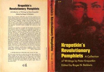 Kropotkin's Revolutionary Pamphlets - Libcom