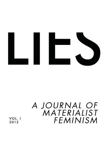 Lies: A Journal of Materialist Feminism - Libcom