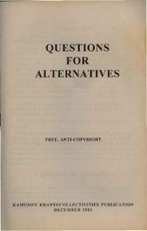 QUESTIONS FOR ALTERNATIVES - Libcom