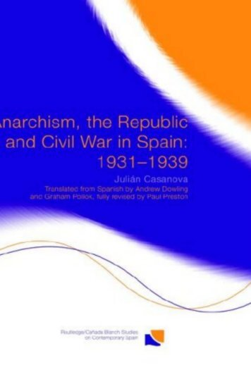 Anarchism, the Republic and Civil War in Spain: 1931-1939 - Libcom