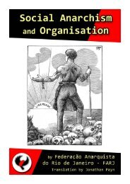 Social Anarchism and Organisation PDF - Zabalaza Books