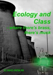 ECOLOGY AND CLASS - where there's brass, there's muck