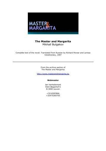 The Master and Margarita pdf - Master & Margarita