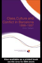 Class, Culture and Conflict in Barcelona 1898–1937 - Libcom