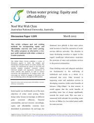 Urban water pricing: Equity and affordability - Global Water Forum