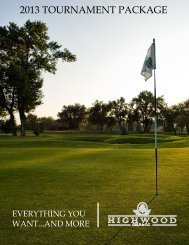 2013 TOURNAMENT PACKAGE - Golf Fusion