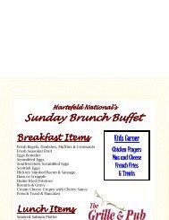 SUNDAY Brunch Menu Restaurant - Golf Fusion