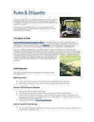 The Rules of Golf Golf Etiquette - Golf Fusion