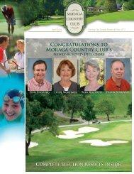 CONGRATULATIONS TO MORAGA COUNTRY CLUb'S - Golf Fusion