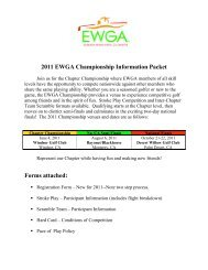 2011 EWGA Championship Information Packet Forms ... - Golf Fusion