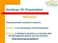 Handicap 101 - Golf Fusion