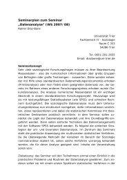 """Datenanalyse"" (WS 2007/08) - Rainer Diaz-Bone"