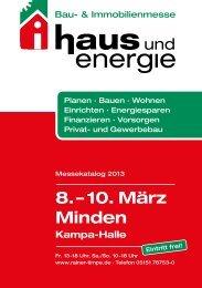 Messekatalog haus und energie Mindener Bau - Rainer Timpe GmbH