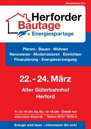 Katalog Herforder Bautage + Energiespartage 2011 - Rainer Timpe ...