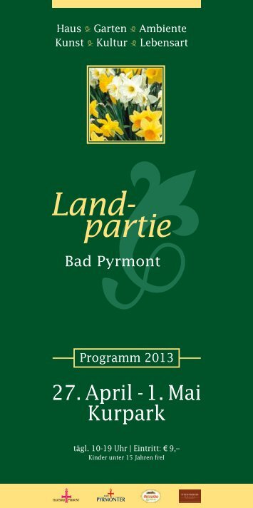 Infoflyer Landpartie Bad Pyrmont (PDF) - Rainer Timpe GmbH