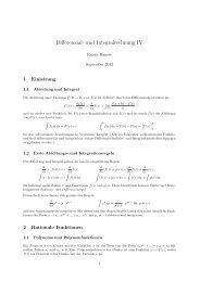 Differenzial- und Integralrechnung IV - Rainer Hauser