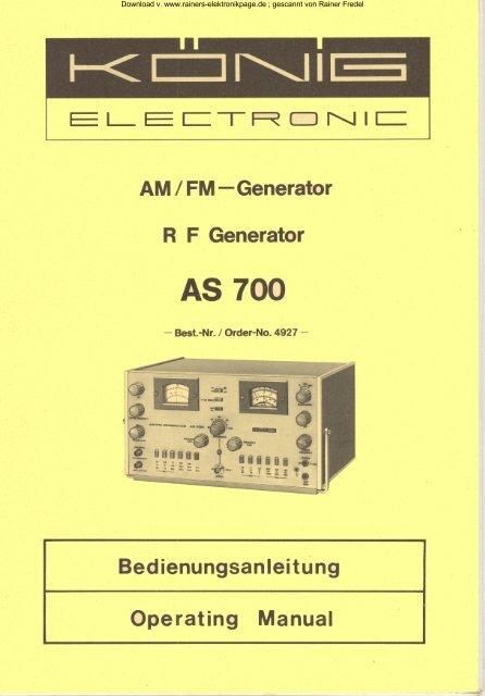 König AS 700 - Rainers - Elektronikpage