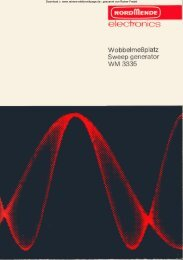 Wobbelgenerator WM 3335 - Rainers - Elektronikpage