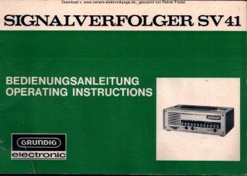 GRUNDIG Signalverfolger SV 41 - Rainers - Elektronikpage