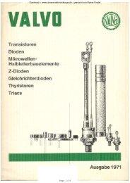 VALVO Bauelemente Ausgabe 1971 - Rainers - Elektronikpage