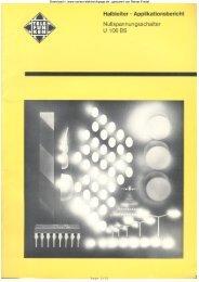 Nullspannungsschalter U106BS - Rainers - Elektronikpage