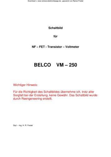 BELCO VM - 250 ; NF - Transistorvoltmeter - Rainers - Elektronikpage