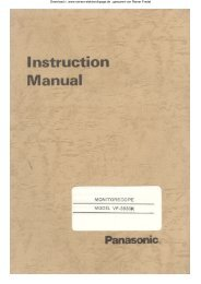 PANASONIC VP - 3830 K ; Monitorscope - Rainers - Elektronikpage