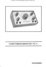 WEIDNER FG - 4 ; Funktionsgenerator - Rainers - Elektronikpage
