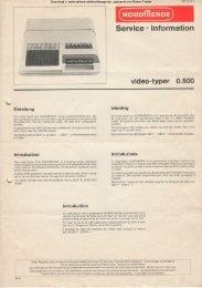 Video-Typer 0.500 - Rainers - Elektronikpage
