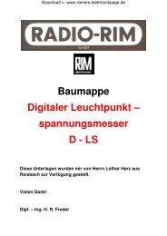Baumappe D LS - Rainers - Elektronikpage