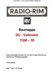 Baumappe DC - Voltmeter TGM - Rainers - Elektronikpage