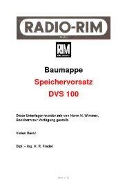Baumappe Speichervorsatz DS 100 - Rainers - Elektronikpage