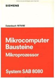 Datenbuch MC SAB8080 - Rainers - Elektronikpage