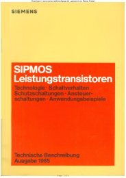 SIPMOS - Leistungstransistoren, Technologie, Schaltverhalten ...