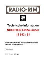 NOGOTON 12 642 / 61 Einbausuper - Rainers - Elektronikpage
