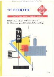 UKW-Vorstufen mit OC615 für Röhren - Rainers - Elektronikpage