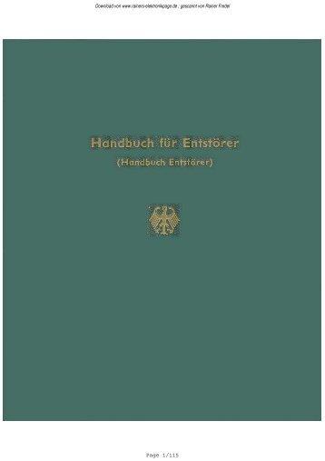 Handbuch für Entstörer 1970 - Rainers - Elektronikpage