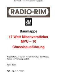 Baumappe Chassis MVU - 10 - Rainers - Elektronikpage