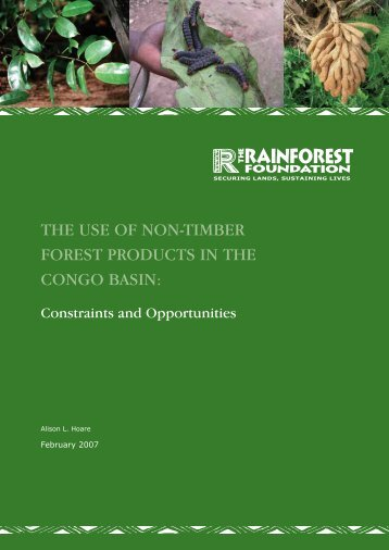the use of non-timber forest products in the congo basin - Rainforest ...