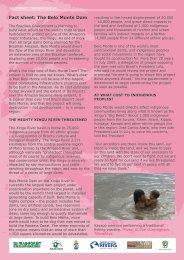 Fact sheet: The Belo Monte Dam - Rainforest Foundation UK