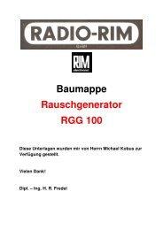 Baumappe Rauschgenerator - Rainers - Elektronikpage