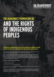 to see the leaflet - Rainforest Foundation UK