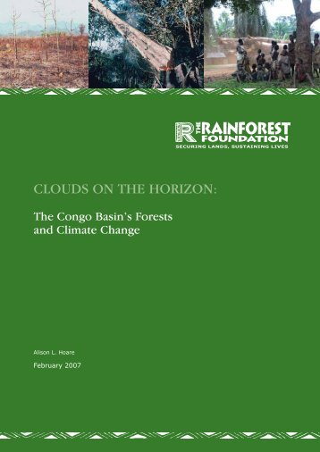 CLOUDS ON THE HORIZON: - Rainforest Foundation UK
