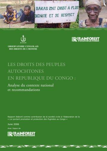 Les droits des peuples autochtones en République du Congo
